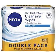 Gesichtstücher NIVEA Reinigungstücher Normale Haut Doppelpack 2 × 25 Stück - Abschminktücher