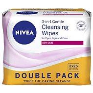 Gesichtstücher NIVEA Reinigungstücher Trockene Haut Duopack 2 × 25 Stück - Abschminktücher