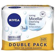 Gesichtstücher NIVEA Reinigungstücher Micellar Duopack 2 × 25 Stck - Abschminktücher