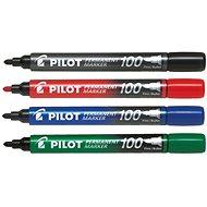 Marker PILOT Permanent Marker 100 1mm Set mit 4 Farben
