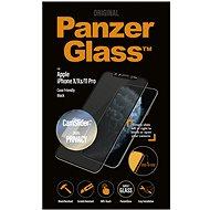 PanzerGlass Edge-to-Edge Privacy für Apple iPhone X / XS / 11 Pro Schwarz mit CamSlider - Schutzglas