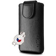 Handyhülle FIXED Sarif Cover mit Verschluss PU-Leder Größe 6XL+ schwarz - Pouzdro na mobil