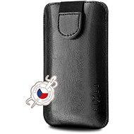 Handyhülle FIXED Soft Slim Cover mit Verschluss PU-Leder Größe 6XL+ schwarz - Pouzdro na mobil