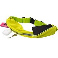 FIXED Sportbelt Duo mit zwei Taschen - limette - Handyhülle