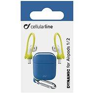 Cellularline Dynamic für Apple AirPods 1 & 2 mit blauen Ohrstöpseln - Hülle