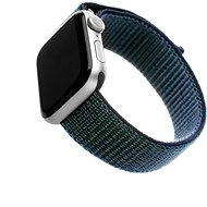 FIXED Nylon Strap für Apple Watch 44 mm / Watch 42 mm - dunkelblau