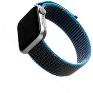FIXED Nylon Strap für Apple Watch 44 mm / Watch 42 mm - grau-blau