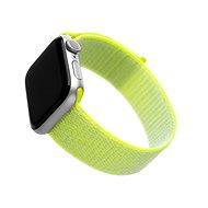 FIXED Nylon Strap für Apple Watch 44 mm / Watch 42 mm - limette