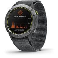 Garmin Enduro Steel/Grey UltraFit Nylon Strap - Nylonarmband - Smartwatch