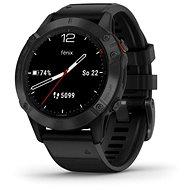 Garmin Fenix 6 Glass, Black/Black Band - Smartwatch
