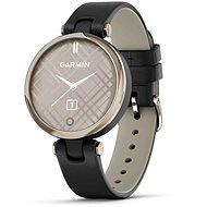 Garmin Lily Classic Cream Gold/Black Leather Band - Smartwatch