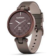 Garmin Lily Classic Dark Bronze/Paloma Leather Band - Smartwatch