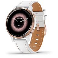 Garmin Venu 2S Rosegold/Weißes Lederarmband - Smartwatch
