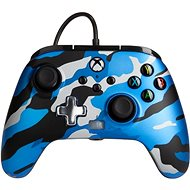 Gamepad PowerA Enhanced Wired Controller - Metallic Blue Camo - Xbox