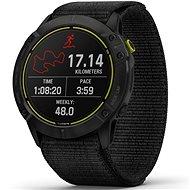 Garmin Enduro Carbon Gray DLC Titanium/Black UltraFit Nylon Strap - Nylonarmband - Smartwatch