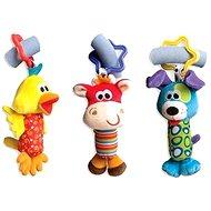 Playgro Reise-Spielzeug zum Aufhängen 3 Stk. - Kinderwagenspielzeug