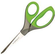 Büroscheren Q-CONNECT Premium, 21 cm grün/grau