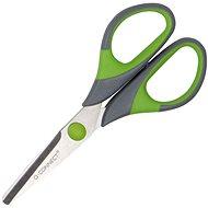 Büroscheren Q-CONNECT Soft Grip, 14 cm, grün/grau