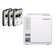 RAID-5-NAS QNAP TS-328 + 3 x 2 TB Festplatten - Datenspeicher