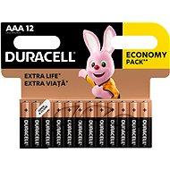 Einwegbatterie Batterie Duracell Basic AAA 12 Stück