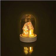 RETLUX RXL 319 Weihnachts-Glaskuppel Glasglocke Haus 1 LED - Weihnachtsbeleuchtung