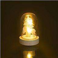 RETLUX RXL 320 Weihnachts-Glaskuppel Glasglocke klein Micro Rentier 1 LED - Weihnachtsbeleuchtung