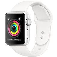 Refurbished Apple Watch Series 4 40 mm silbernes Aluminium mit weißem Sportarmband - Smartwatch