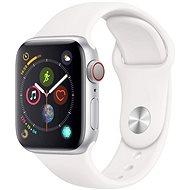 Refurbished Apple Watch Series 4 44 mm silbernes Aluminium mit weißem Sportband - Smartwatch