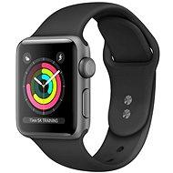 Refurbished Apple Watch Series 4 44 mm Space Grey Aluminium mit schwarzem Sportarmband - Smartwatch