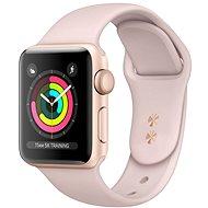 Refurbished Apple Watch Series 4 44 mm Gold Aluminium mit sandrosa Sportarmband - Smartwatch