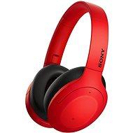 Kabellose Kopfhörer Sony Hi-Res WH-H910N, rot-schwarz
