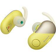 Sony WF-SP700N Gelb - Kopfhörer mit Mikrofon