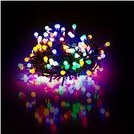 RETLUX RXL 266 Lichterkette Kügelchen 8 fc 100 LED 10 + 5 m - multicolor - mit Timer - Weihnachtskette