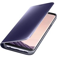 Samsung EF-ZG955C Clear View Standing Cover pro Galaxy S8+ fialové - Handyhülle