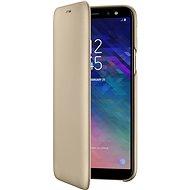 Samsung Galaxy A6 Wallet Cover Gold - Handyhülle