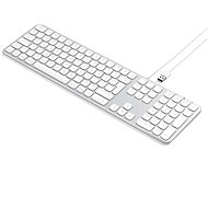 Satechi Aluminum Wired Keyboard for Mac - Silver - US - Tastatur