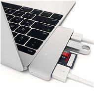 Satechi Aluminium Typ C USB COMBO Hub (3x USB 3.0, MicroSD) - Silver - Port-Replikator
