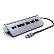Satechi Aluminium Typ C USB Hub (3x USB 3.0, MicroSD) - Space Gray - Port-Replikator