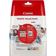 Canon CLI-581 XL Multipack + Fotopapierr PP-201 - Set