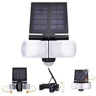 Solight LED Solarbeleuchtung mit Sensor, 8W, 600lm, Li-on, schwarz - Außenleuchte