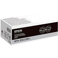 Epson S050711 schwarz 2pcs - Toner