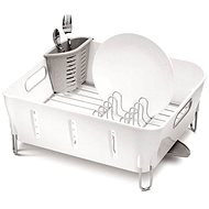 Simplehuman Abtropfgestell kompakt, Kunststoff, weiß - Abtropffläche