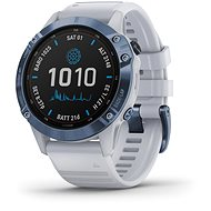 fenix 6 Pro Solar, Mineral Blue, Whitestone Band - Smartwatch