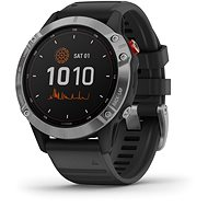 fenix 6 Solar, Silver, Black Band - Smartwatch