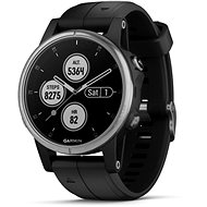 Garmin Fenix 5S Plus Silver Optic Black Band - Smartwatch