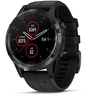 Garmin Fenix 5 Plus Sapphire Black Optic Black Band - Smartwatch
