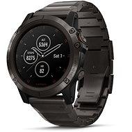 Garmin Fenix 5X Plus Sapphure Carbon Gray DLC Titanium DLC Titanium Band - Smartwatch