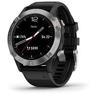 Garmin Fenix 6 Glass, Silver/Black Band - Smartwatch