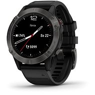 Garmin Fenix 6 Sapphire, Gray/Black Band (MAP / Music) - Smartwatch