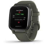 Garmin Venu Sq Music Slate/Green Band - Smartwatch